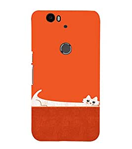 EPICCASE Stretchy cat Mobile Back Case Cover For Huawei Nexus 6P (Designer Case)