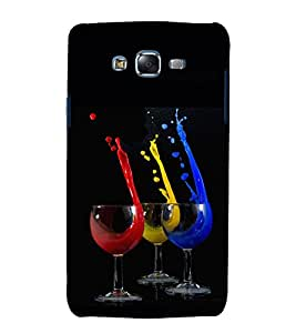 printtech Wine Glass Color Back Case Cover for Samsung Galaxy Core i8262 / Samsung Galaxy Core i8260
