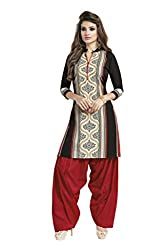PADMiNi Ethnicwear Women's Kurti Fabric Black Free Size