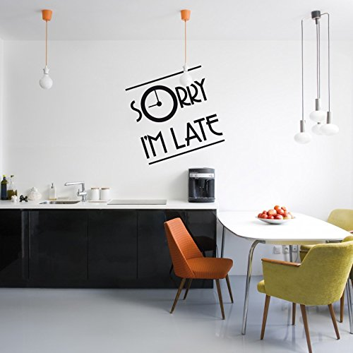 sticker-mural-sorry-im-late-45-x-45-cm-blanc