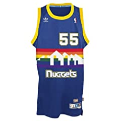 Dikembe Mutombo Denver Nuggets Adidas NBA Throwback Swingman Jersey - Blue by adidas