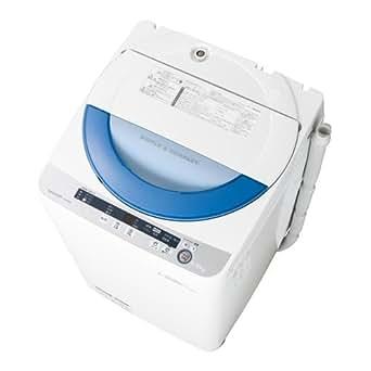 シャープ 5.5kg 全自動洗濯機 ブルー系SHARP 穴なし槽 ES-GE55P-A