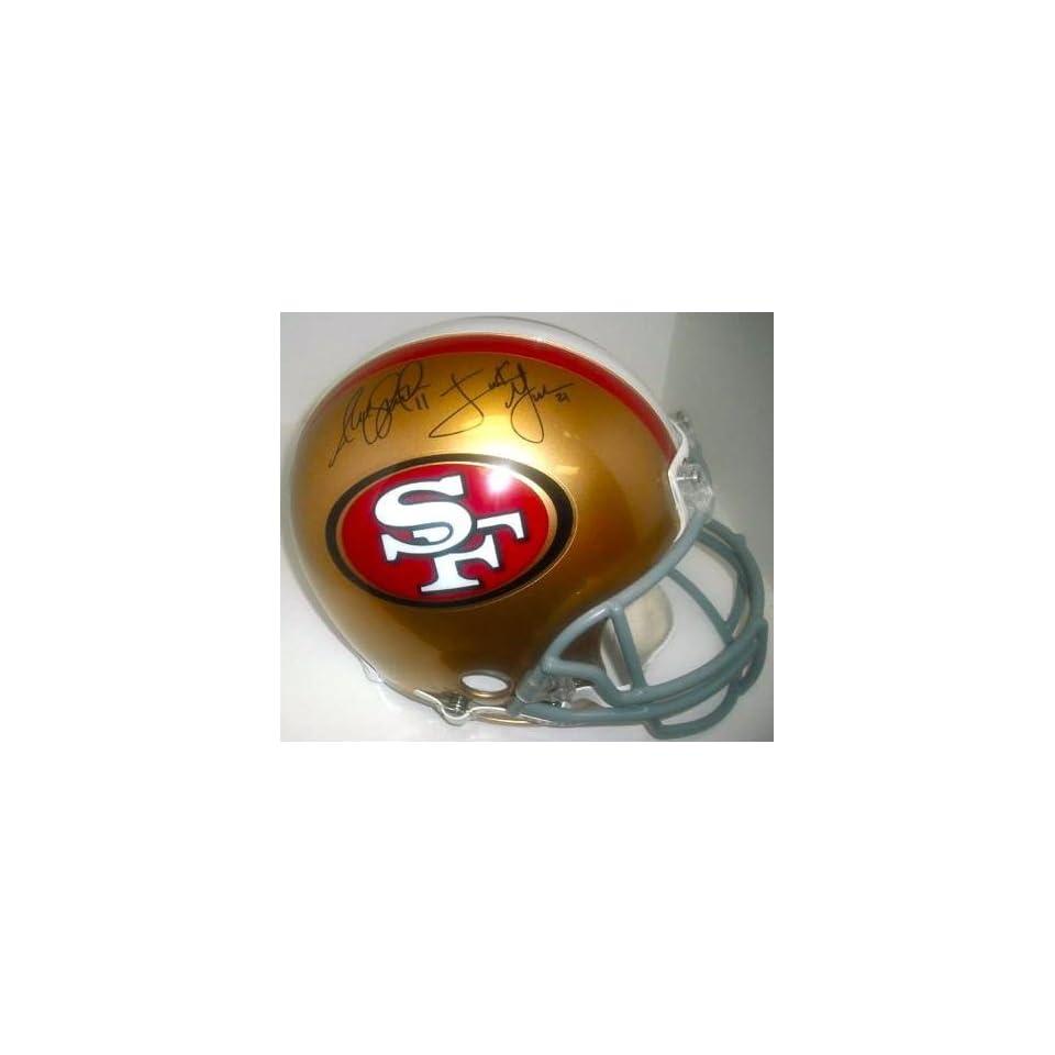 com San Francisco 49ers Smith & Gore Hand Signed Autographed Football