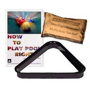 Billiard Pool Ball Rack & BCA Play Right Booklet and Talc Bag