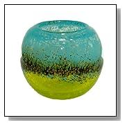 Decorative Rose Bowl Hand-Blown Glass Vase