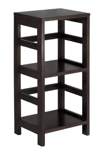 Winsome 92314 Dark Espresso Beechwood SHELF 2-SECT NARROW