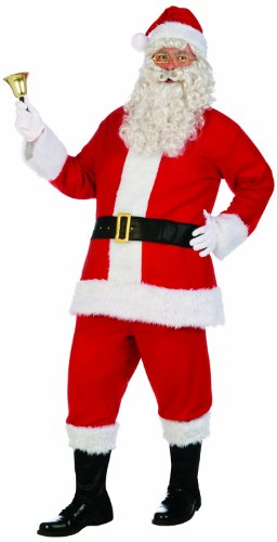 Forum Novelties Men's Santa Claus Costume Flannel Suit