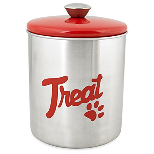 Buddys-Line-Stainless-Steel-Top-Treat-Jar-16-oz-Red