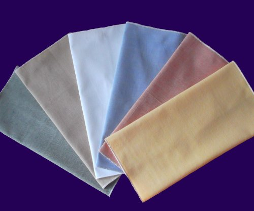 LIMITED EDITION HomeMattersMost Colored Organic Cotton Handkerchiefs Gift Set of 6 - (10