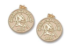 Duke Blue Devils 5 8 2010 NCAA Champions Logo Post Earrings - 14KT Gold Jewelry by Logo Art