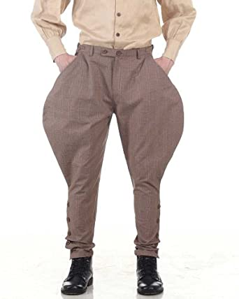 Steampunk Pants Mens Archibald Jodhpur Pants  AT vintagedancer.com