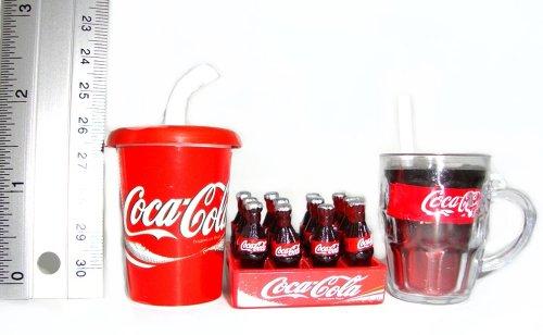 Coca Cola Cokei Collectables Dollhouse Miniature 3 Pcs/Set Cups & Crate Coca Cola Magnet front-424658