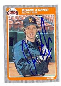 Duane Kuiper autographed Baseball Card (San Francisco Giants) 1985 Fleer #610