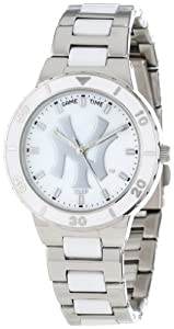 Game Time Ladies MLB-PEA-NY3 New York Yankees Pinstripe Watch by Game Time