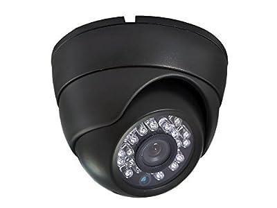 1/4'' 700TVL Indoor Plastic Day Night Security Surveillance CCTV Dome Camera With 20M IR Range Night Vision-Black
