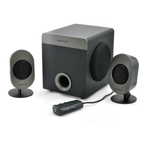 Gear Head 2.1 Studio Pro Speaker System With Desktop Audio Pod (Sp3750Acb)