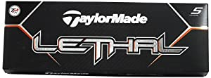 TaylorMade Lethal Golf Ball 12pk White by TaylorMade