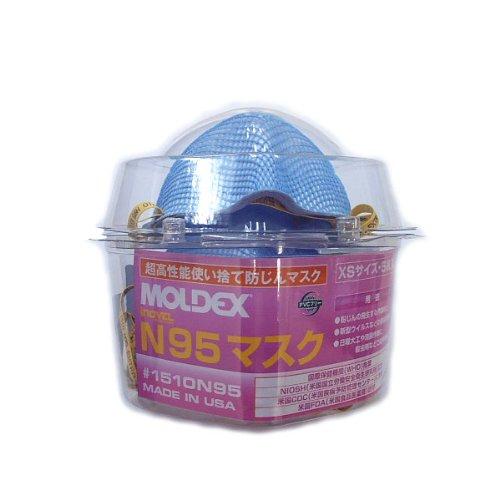 MOLDEX N95マスク 使い捨て防じんマスク XSサイズ 5枚入
