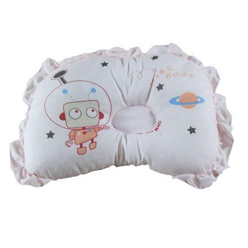 100% Baumwolle Baby Flachkopf-Kissen Gesunde Schlafkissen Memory Foam Kissen für Four Season (Rosa)
