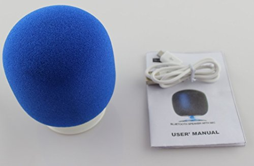 2014 New Arrival Comebo Fashionable 360 Degree Rotating Mini Bluetooth Speaker With Sponge And Led Indicator (Blue)