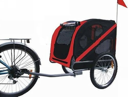 KMS Pet Dog Bike Trailer Red Black 30Kg Loading Weight