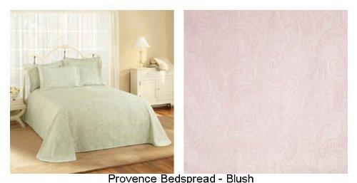 Stylemaster Provence Full Matelasse Bedspread, Blush front-1045963