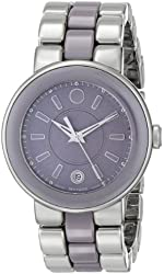 """Movado Women's 0606553 """"Cerena"""" Stainless Steel Watch"""