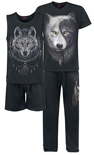 Spiral Wolf Chi Pigiama nero XXL