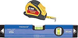 FREEMANS Ikon 5m-19mm Measuring Tape + 30cm Basik Spirit Level