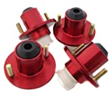 1988-2000 Honda Civic Suspension Coilover Shock Top Hats Strut Tower Red