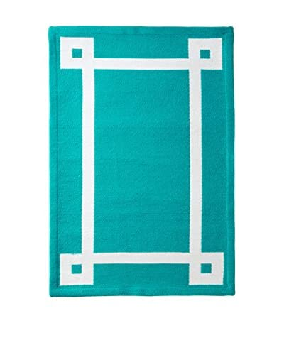 Happy Chic by Jonathan Adler Outdoor Rug, Teal, 2′ x 3′