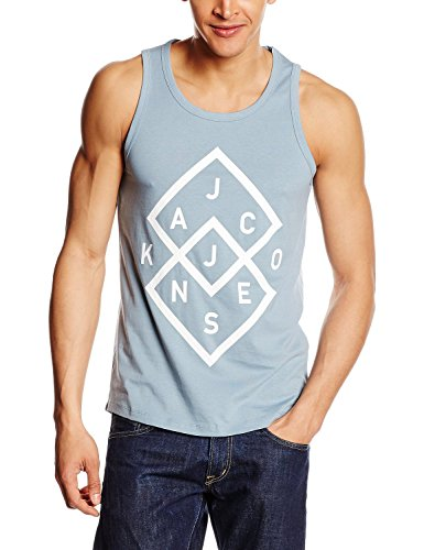 JACK & JONES -  T-shirt - Senza maniche  - Uomo Blau - Blue (Citadel) XX-Large