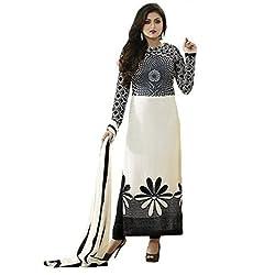 BK ENTERPRISE Women's Black And White Anarkali Dresses(bk-1_freesize)