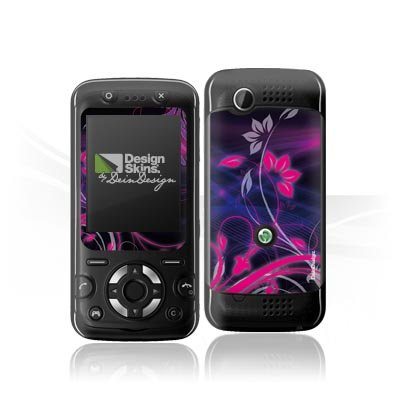 Design Skins für Sony Ericsson F305 - Space Flower in Black Design Folie