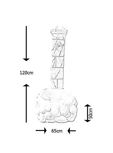 Fontaine en Pierre blanche reconstituée 50x65x120cm