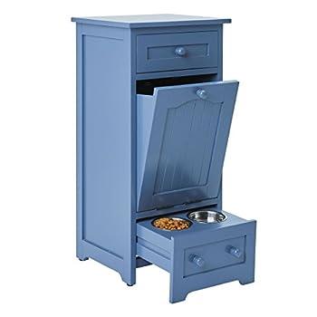 BrylaneHome Pet Food Storage Cabinet Blue