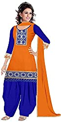 Expert Women's New Fashion Designer Fancy Wear Todays Low Price Best Special Offer All Type Of Modern Orange Colored Embroidered Patiyala Salwar Suit