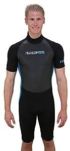 U.S. Divers Adult 2015 Shorty Wetsuit, Black/Blue, XX-Large