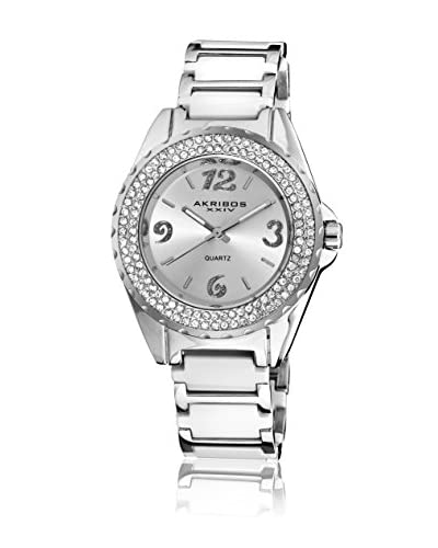 Akribos XXIV Orologio al Quarzo Women'S Quarz Crystal Ceramic Bracelet Watch Bianco 39  mm