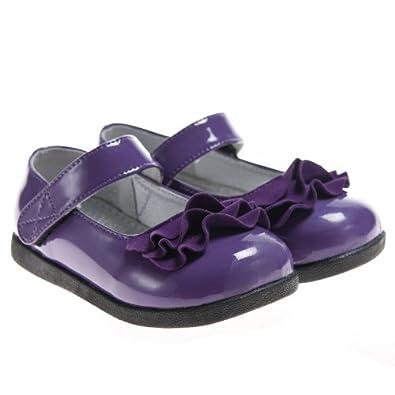 .com: HLT Toddler/Little Kid Girl Ruffled Ribbons Purple Mary Jane ...
