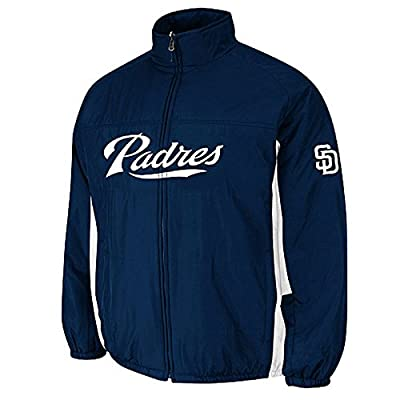 San Diego Padres Kelly Green Double Climate On-Field Jacket by Majestic
