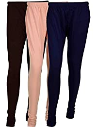 Cotton Leggings (Culture The Dignity Women's Cotton Leggings Combo Of 3_CTDCL_B2CNv_BROWN-CREAM-NAVYBLUE_FREESIZE)