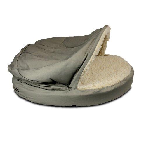 Snoozer Orthopedic Cozy Cave Pet Bed, Small, Khaki