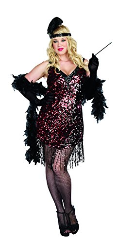Dreamgirl Women's Sexy Dazzling Flapper Plus Size Costume, Dames Like Us