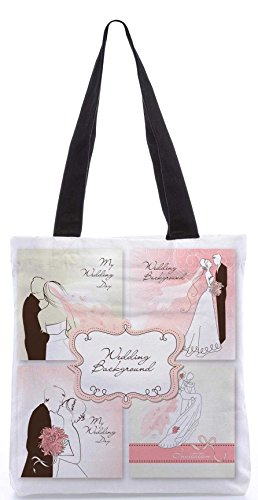Snoogg Set Of Beautiful Vector Wedding Backgrounds Easy To Edit Perfect For Weddin Designer Poly Canvas Tote Bag