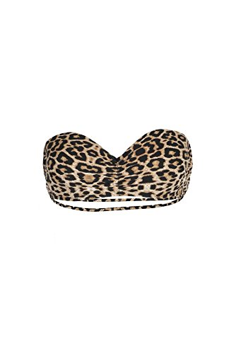 Monpetitbikini Mon Teenie Bikini - Costume a fascia push-up leopardato (Pezzo di sopra)