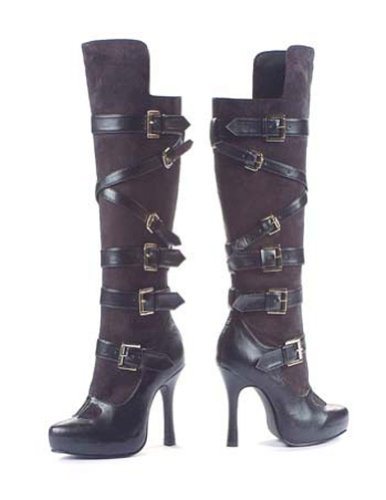 Costume-Footwear Boot Bandit Blk By Leg Ave Sz8 Halloween Costume - 1 size