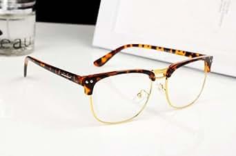 Rimless Hipster Glasses : Amazon.com: Leopard Fashion Hipster Vintage Retro Semi ...