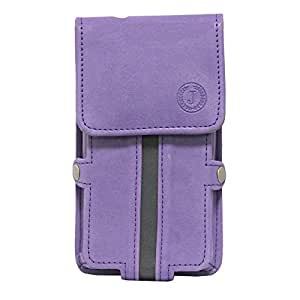 Jo Jo A6 Nillofer Series Leather Pouch Holster Case For LENOVO S720 Purple Black