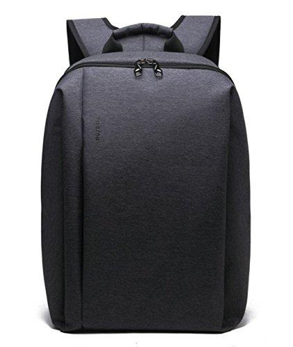 yacn-slim-nylon-laptop-backpack-canvas-rucksack-travel-for-17-inch-laptop-black